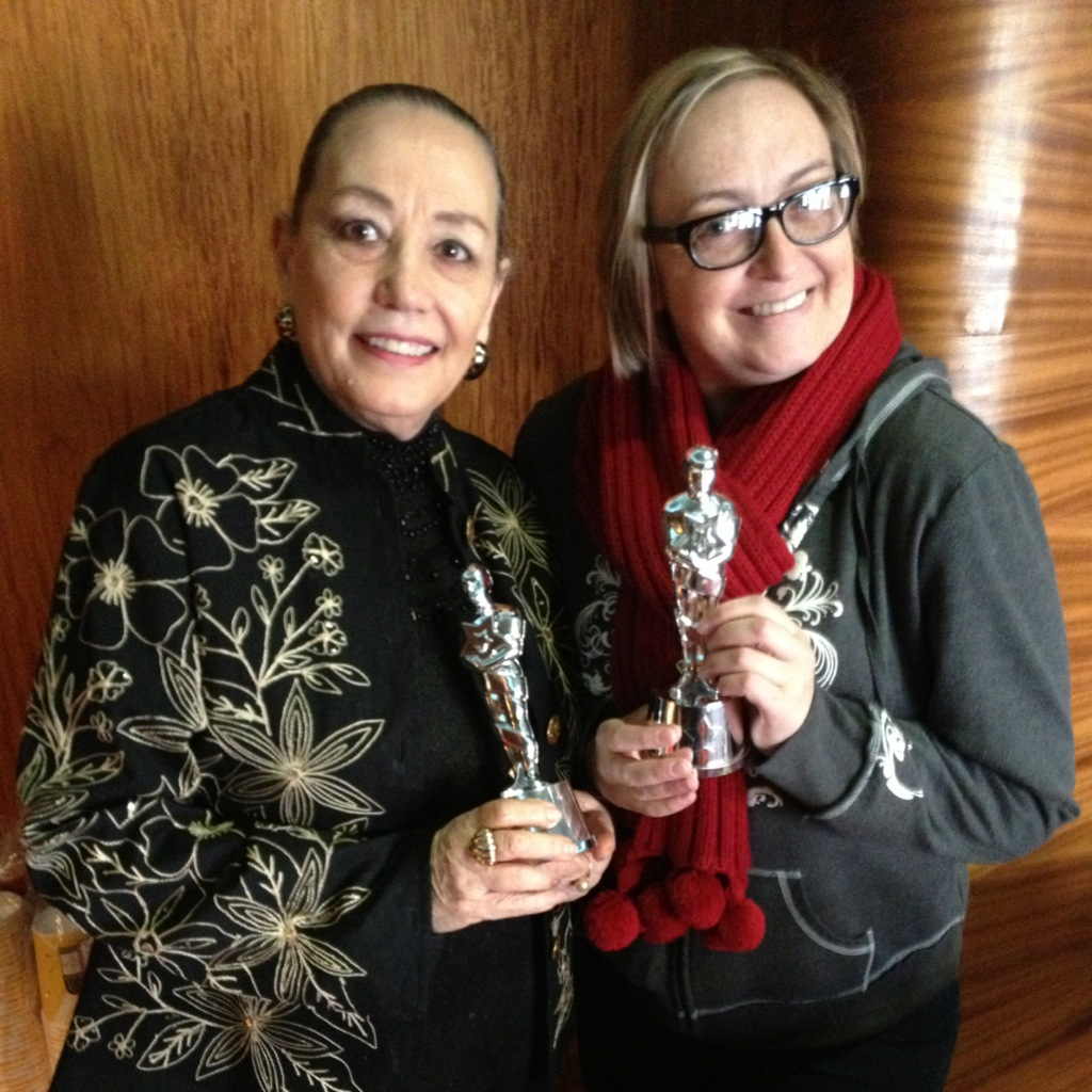 March 2013 Volunteer of the Month Nené Casares, left, with fellow volunteer Kristy Page at the February screening of the Oscar-Nominated Short Films.