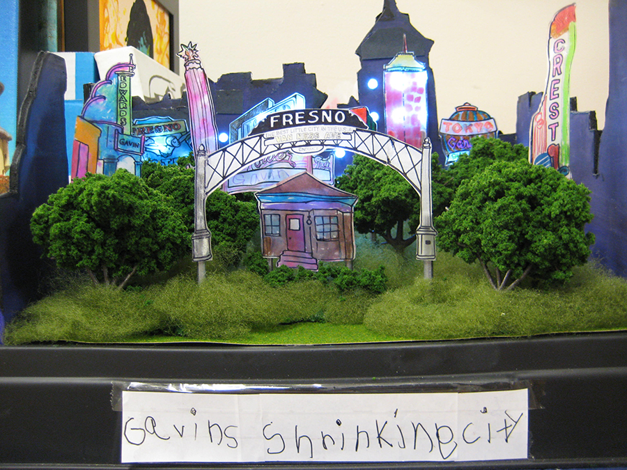 "The upcoming #DowntownVisions exhibit at the Fresno Art Museum features crowd-sourced works from artists of all kinds, including ""Gavin's Shrinking City,"" a diorama submitted by a 6-year-old boy."