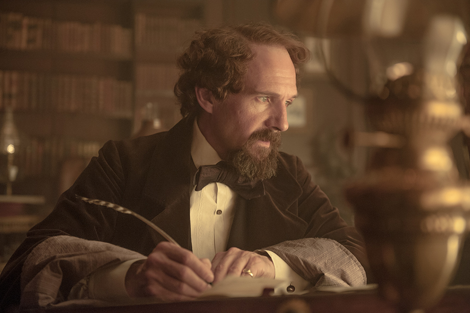 "Ralph Fiennes plays Charles Dickens in ""The Invisible Woman,"" the story of the Victorian novelist's longtime affair with the young Nelly Ternan. Via Sony Pictures Classics."