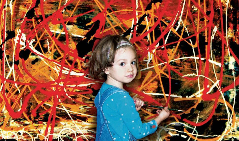 "Marla Olmstead, the 7-year-old star of ""My Kid Could Paint That."" Via Sony Classics."
