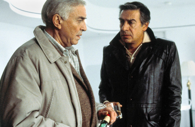 "Ebert enjoyed Martin Landau, left, as a philandering ophthalmologist, and Jerry Orbach as his gangster brother in ""Crimes and Misdemeanors."" Via MGM."