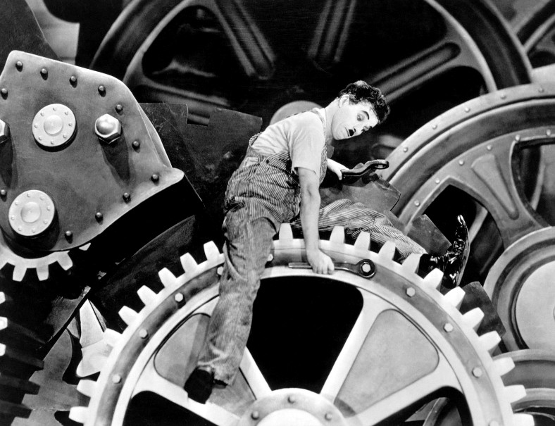 Chaplin becomes part of the machine.