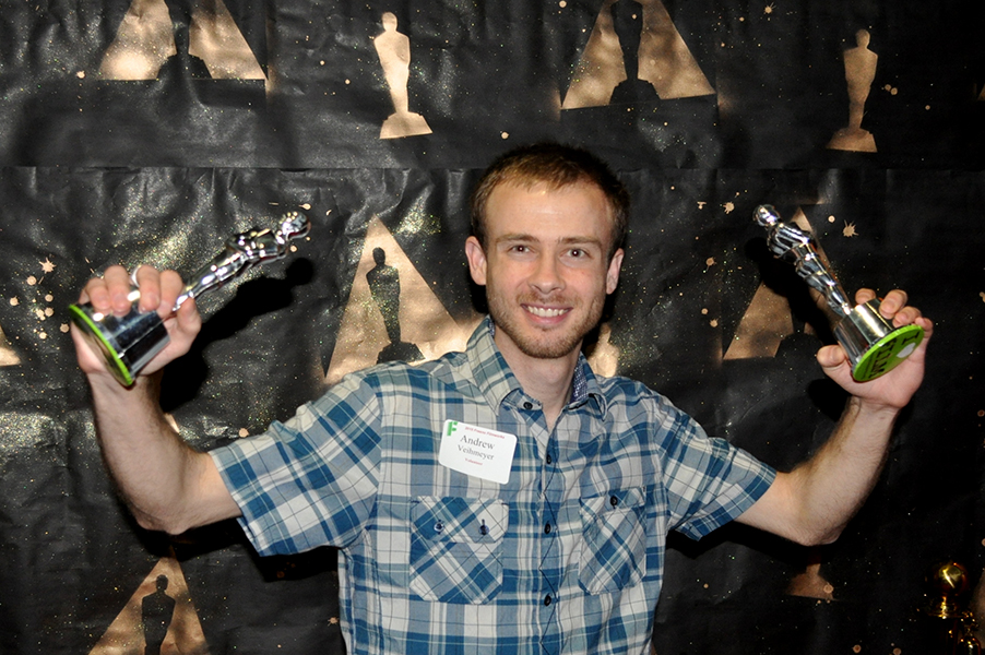 The Academy would like to congratulate Andrew Veihmeyer on his volunteer achievements with Filmworks.