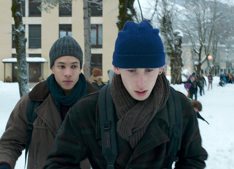 "Corentin Fila plays Tomas and Kacey Mottet Klein plays Damien in ""Being 17,"" a coming-of-age drama distributed by Strand Releasing."