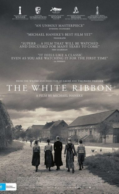 theatrical poster for the white ribbon