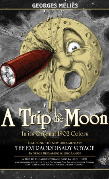 theatrical poster for a trip to the moon and an extraordinary journey