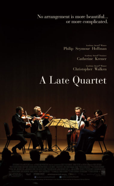 theatrical poster for a late quartet