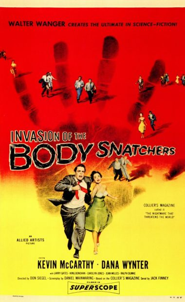 theatrical poster for invasion of the body snatchers
