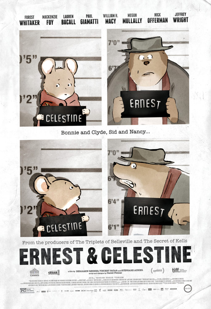 theatrical poster for ernest and celestine