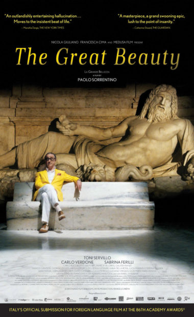 theatrical poster for the great beauty
