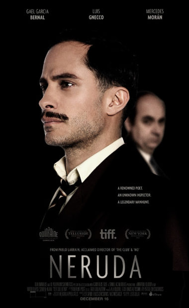 theatrical poster for neruda