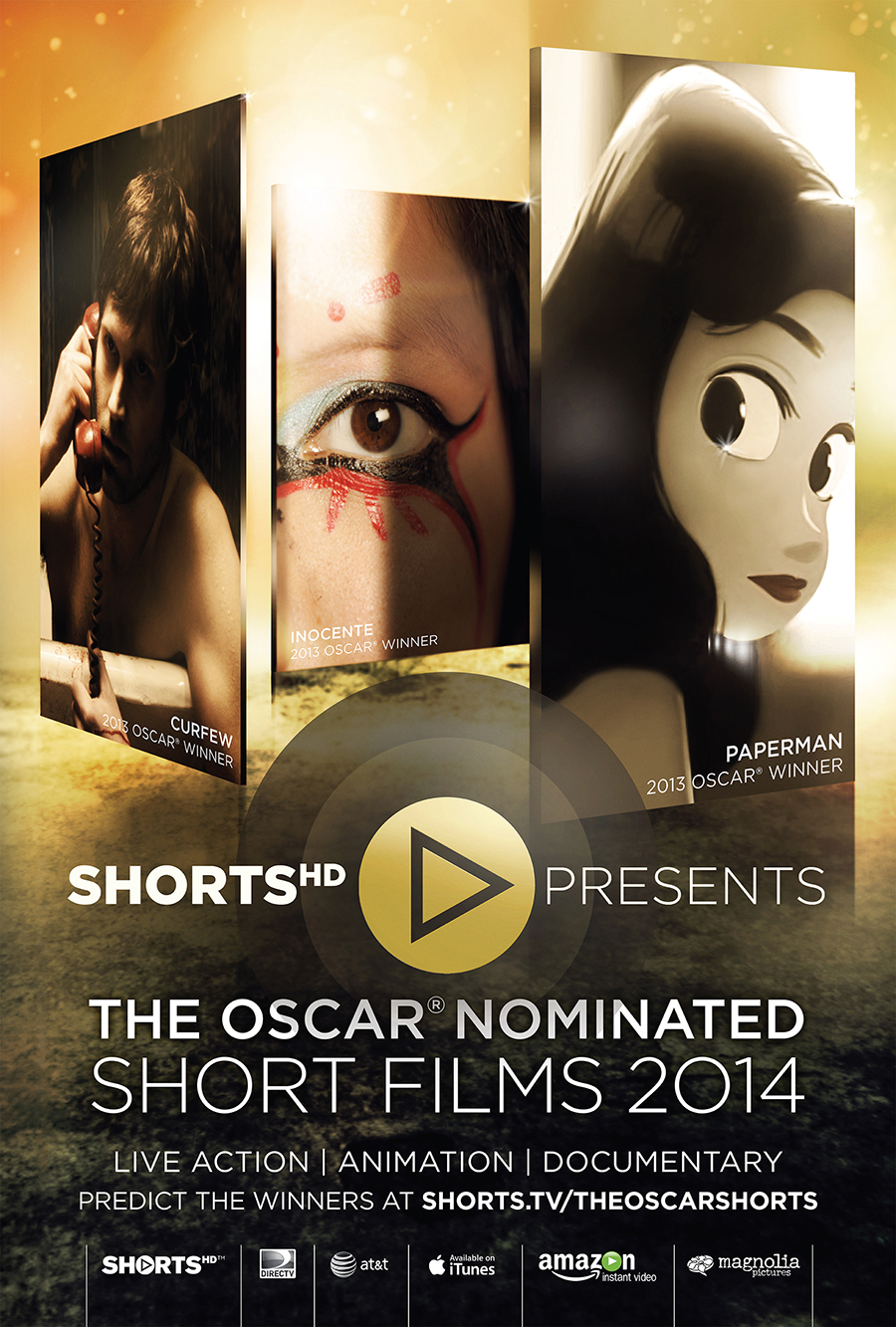 poster for oscar nominated shorts