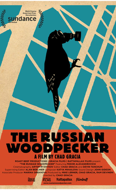theatrical poster for the russian woodpecker
