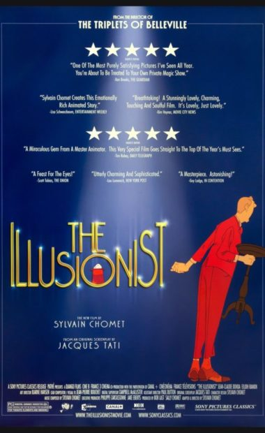 theatrical poster for the illusionist