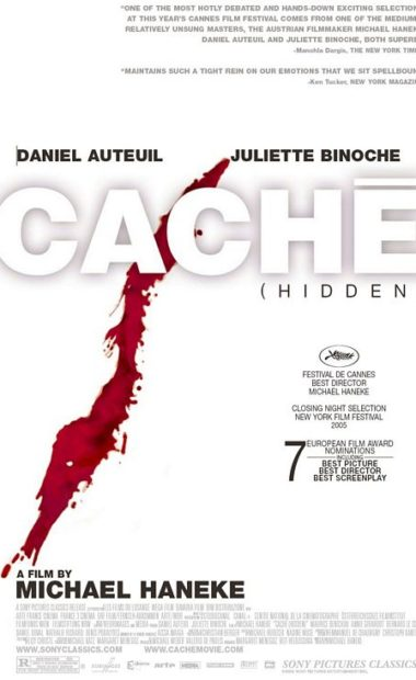 theatrical poster for cache