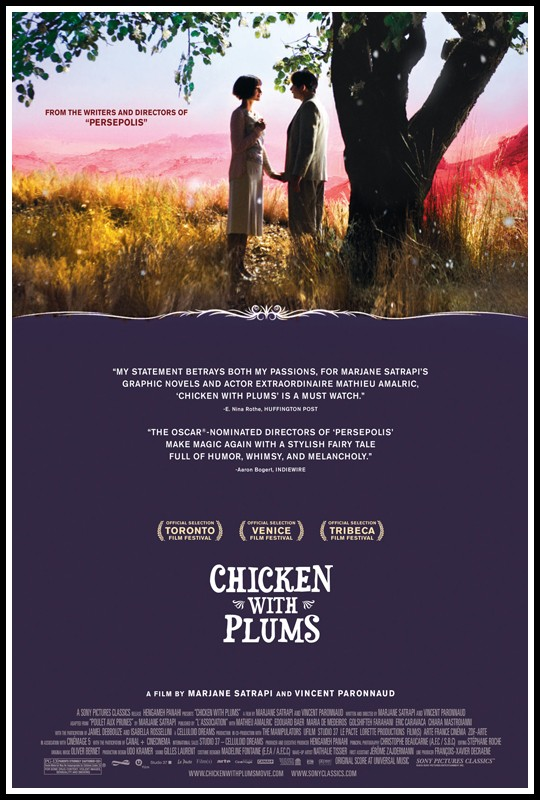 theatrical poster for chicken with plums