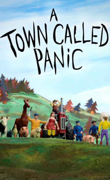 theatrical poster for a town called panic