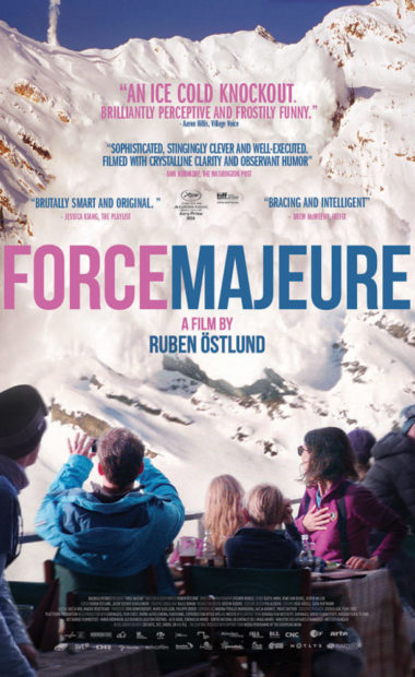 theatrical poster for force majeure
