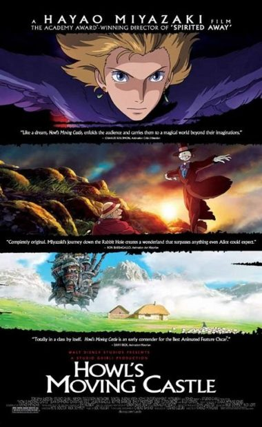 theatrical poster for howl's moving castle