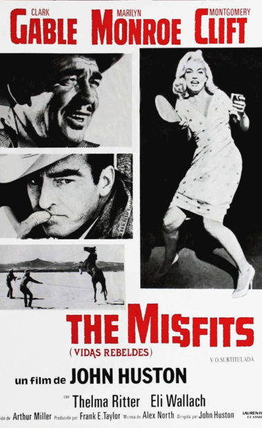 theatrical poster for the misfits