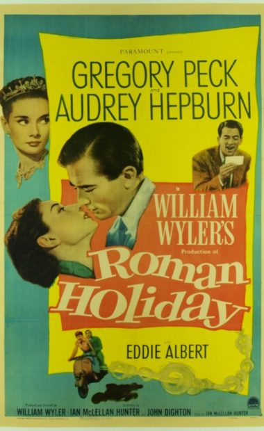 theatrical poster for roman holiday