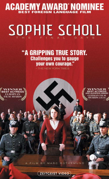 theatrical poster for sophie scholl: the final days