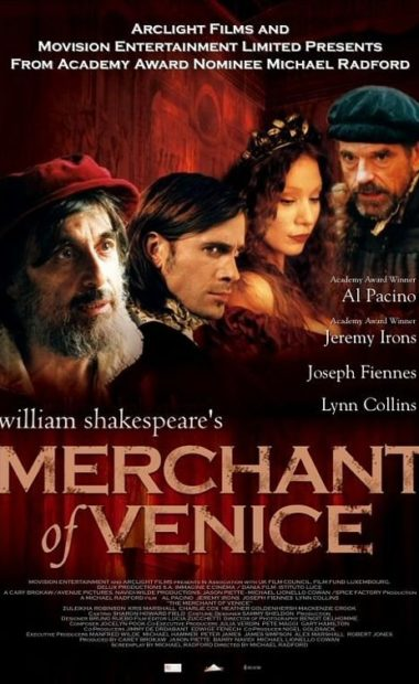 theatrical poster for Merchant of Venice