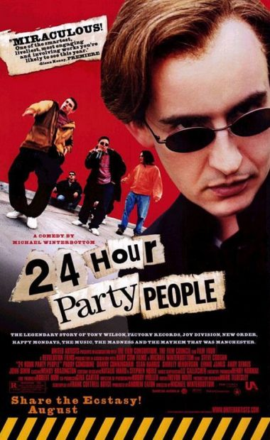 theatrical poster for 24 hour party people